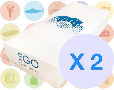Paquetes de análisis genómico nutrición X 2